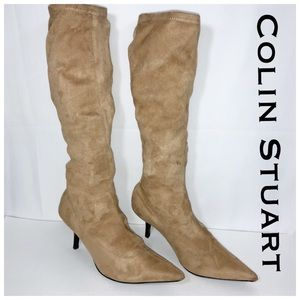 Colin Stuart Leather Slouchy Tan Boots Size 9.5